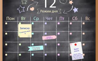 Режим дня младенца: двенадцатый месяц