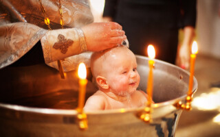 Обряд Крещения младенца в церкви